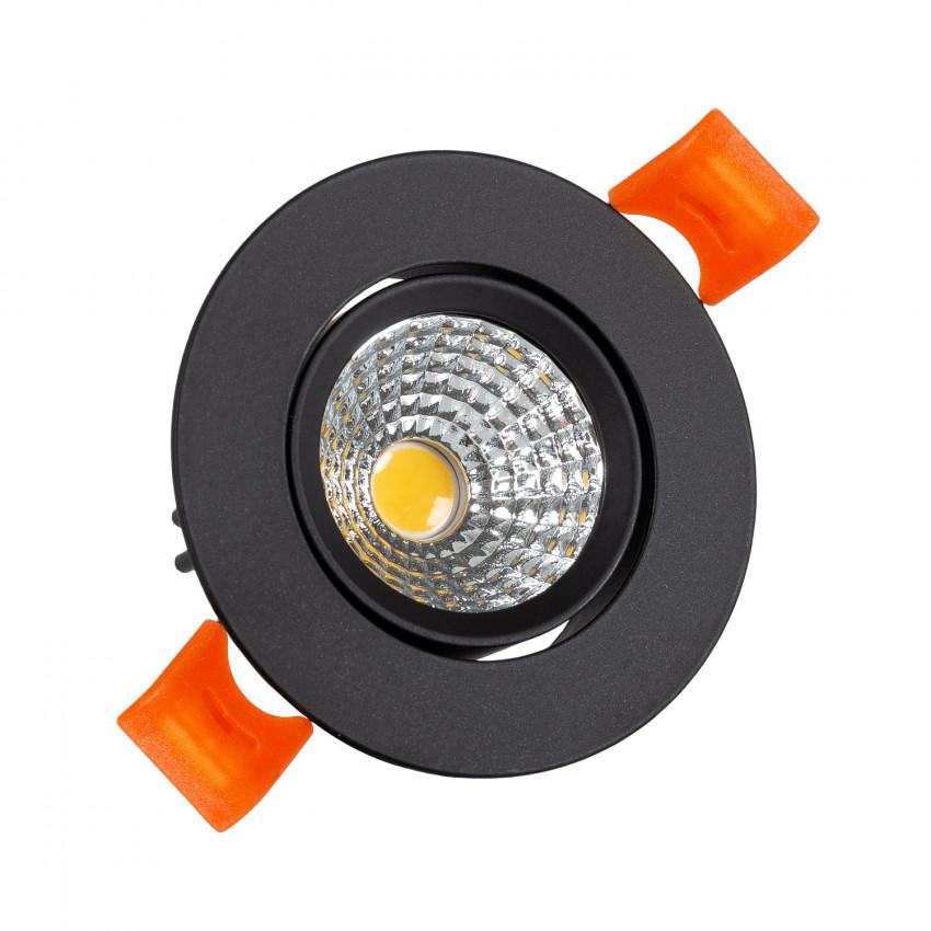 Foco Downlight LED 5W COB Direccionable Circular Negro Corte Ø55 mm CRI92 Expert Color No Flicker