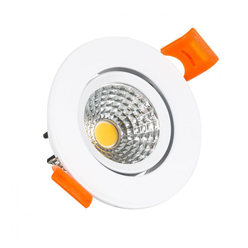 Foco Downlight LED 5W COB Direccionable Circular (UGR19) Blanco Corte Ø 55 mm CRI92 Expert Color