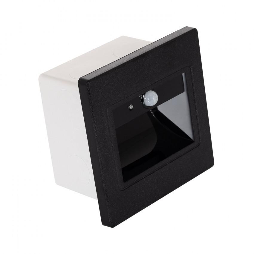 Baliza LED con Sensor PIR Acabado Negro