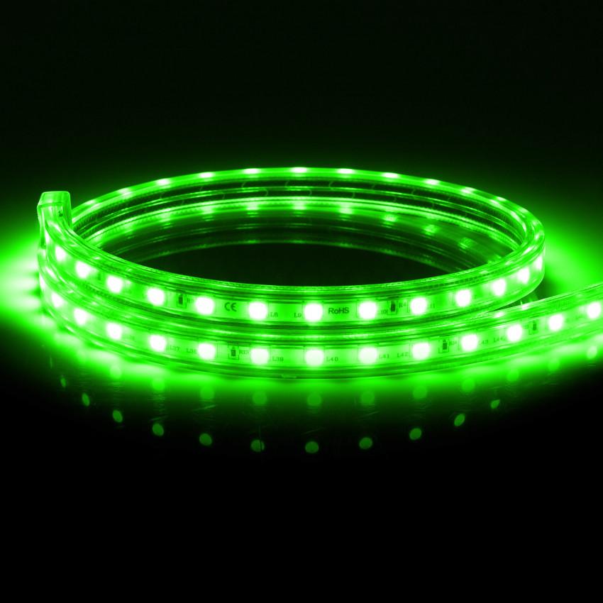Tira LED Regulable 220V AC 100 LED/m Verde IP67 a Medida Corte cada 25 cm