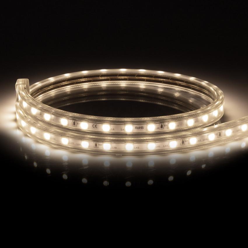 Fita LED 220V AC 100 LED/m Branco Neutro IP67 à Medida Corte a cada 25 cm