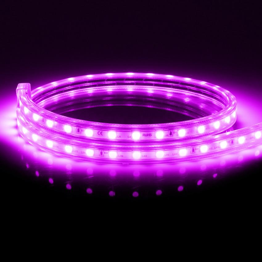 Fita LED 220V AC 100 LED/m Rosa IP67 à Medida Corte a cada 25 cm