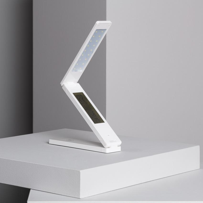 Lámpara de Escritorio LED Multifunción Plegable 1.8W con Batería