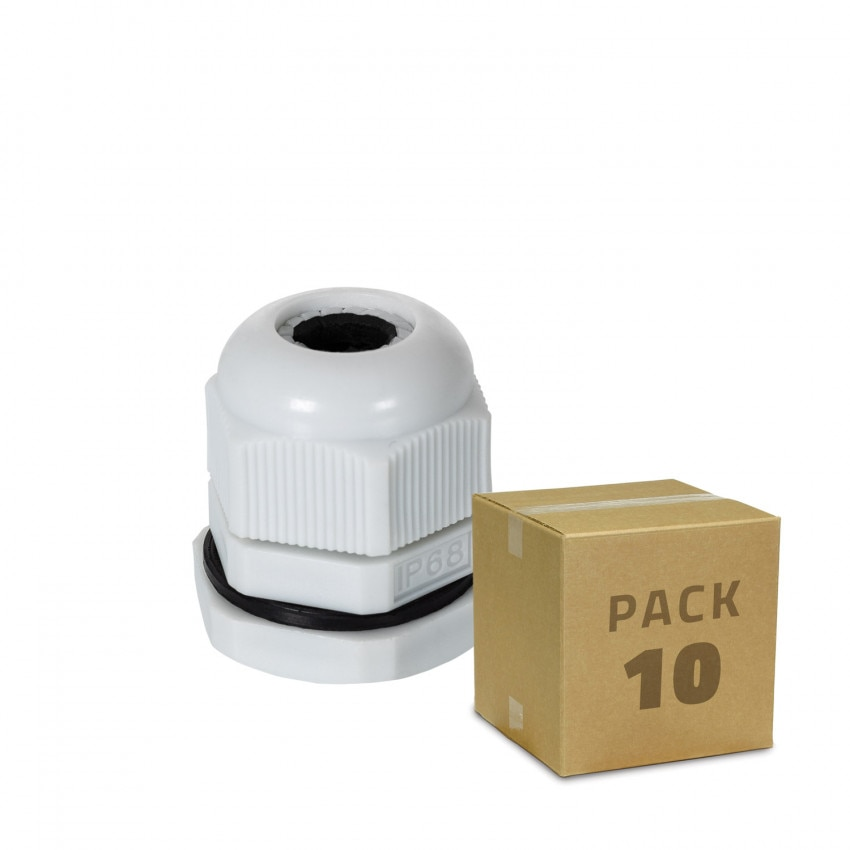 Pack 10 Unidades Prensaestopa Nylon IP68 Varios Tamaños