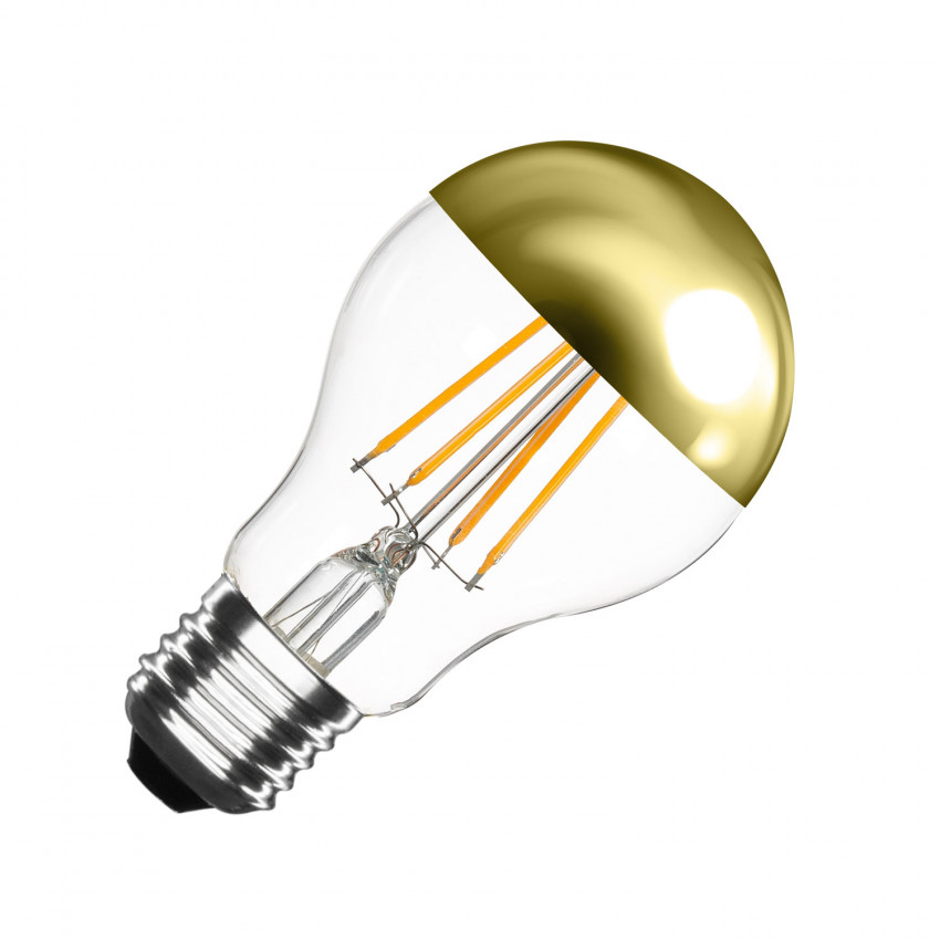 Lâmpada LED E27 Regulável Filamento Gold Reflect A60 6W