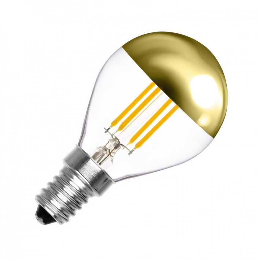 Bombilla LED E14 Regulable Filamento Gold Reflect G45 4W