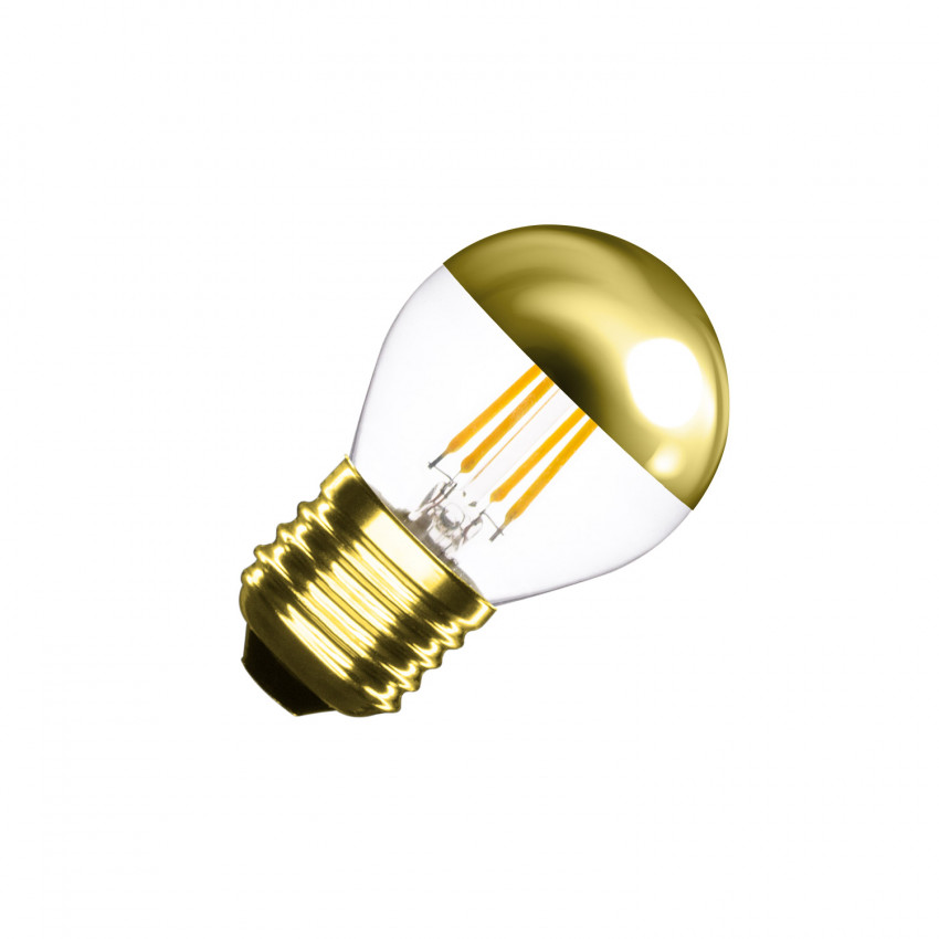Lâmpada LED E27 Regulável Filamento Gold Reflect Small Classic G45 4W