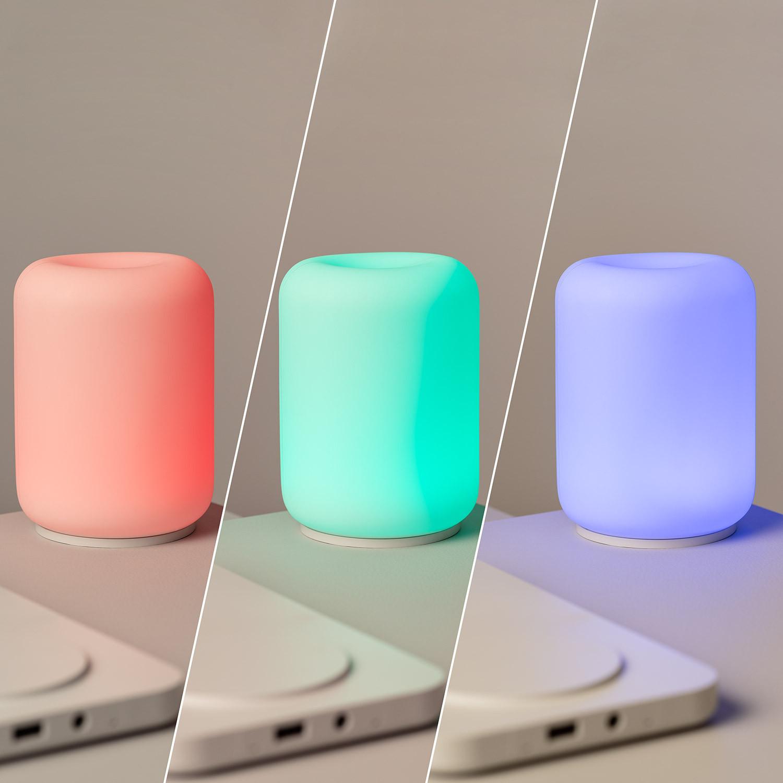 Cargador Inalámbrico con Lámpara LED