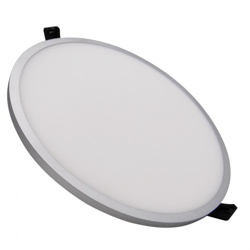 Placa LED 16W Circular Slim Surface LIFUD Gris Corte Ø135 mm