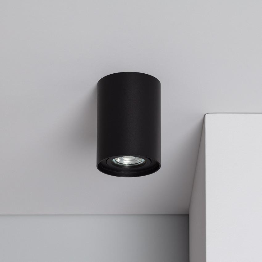 Aplique Techo Cuarzo Aluminio Negro