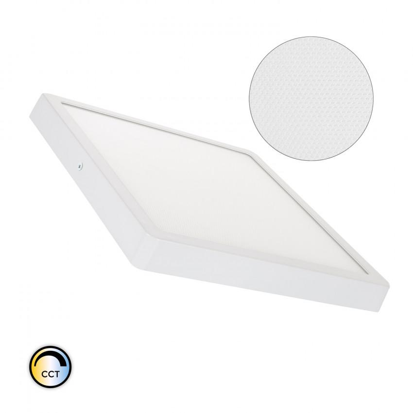 Plafón LED 24W Quadrado Superslim (CRI90) Microprismático CCT Seleccionável (UGR17)