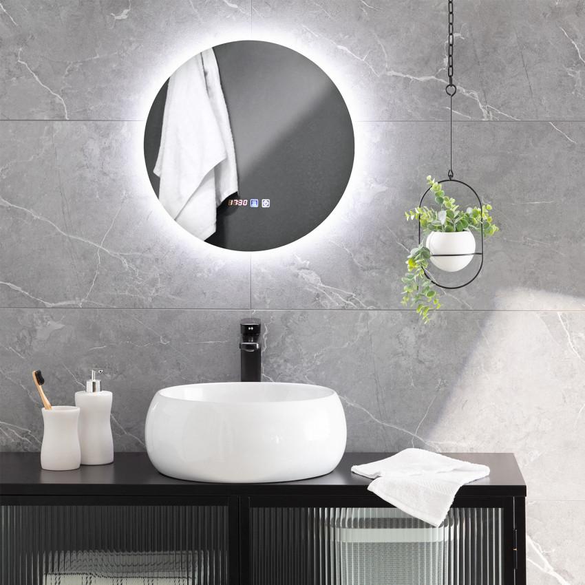 Espejo LED Antivaho Táctil Volpe Ø45 cm