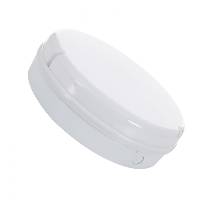 Plafón LED 24W Circular Hublot White com Luz de Emergência Não Permanente IP65