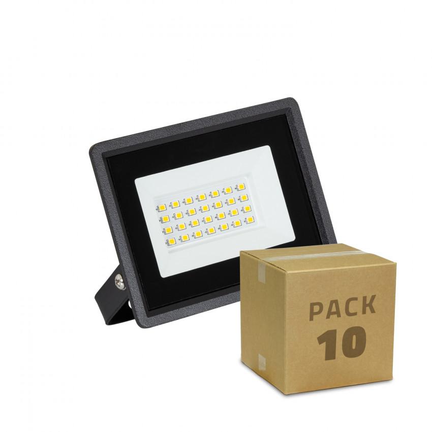 Pack Foco Projetor LED 20W Solid IP65 (10 un)