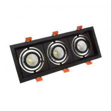 Foco Madison LED Direccionable COB 3x10W Black