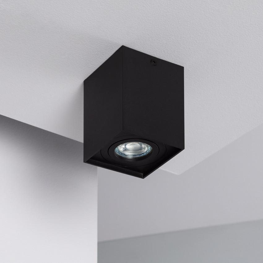 Aplique Techo Jaspe Aluminio Negro