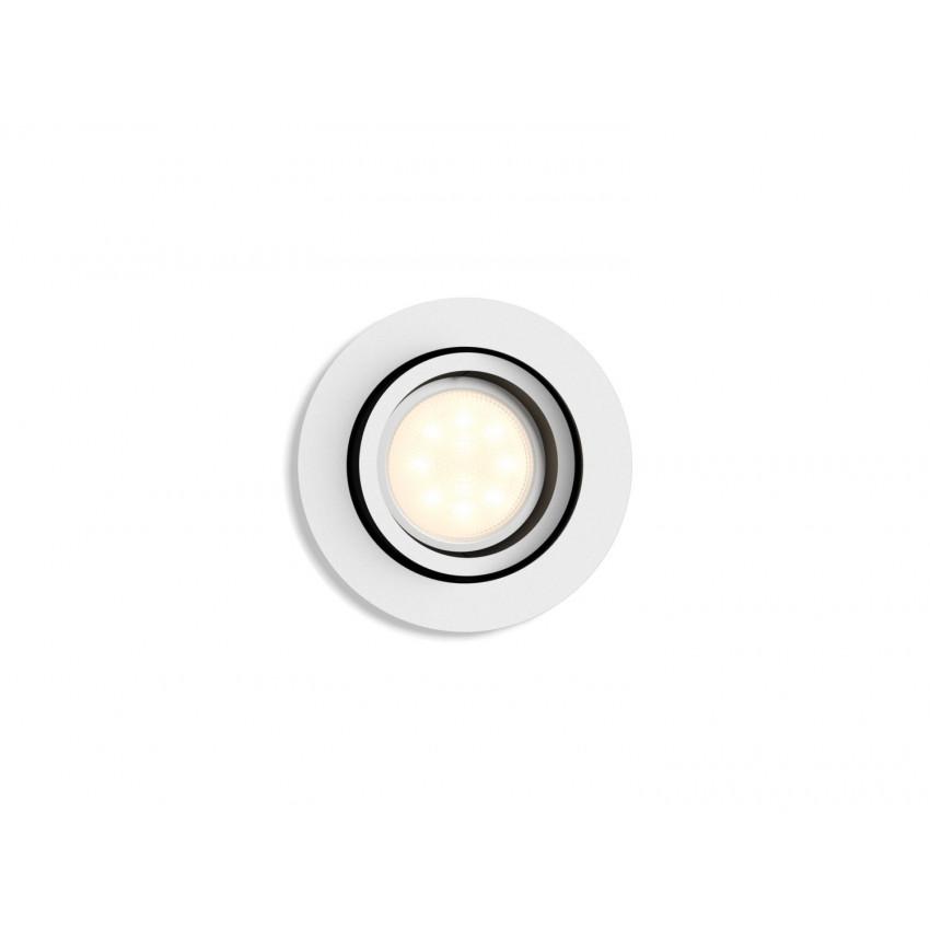 Foco Downlight White Ambiance GU10 PHILIPS Milliskin Corte Ø70 mm Extensión