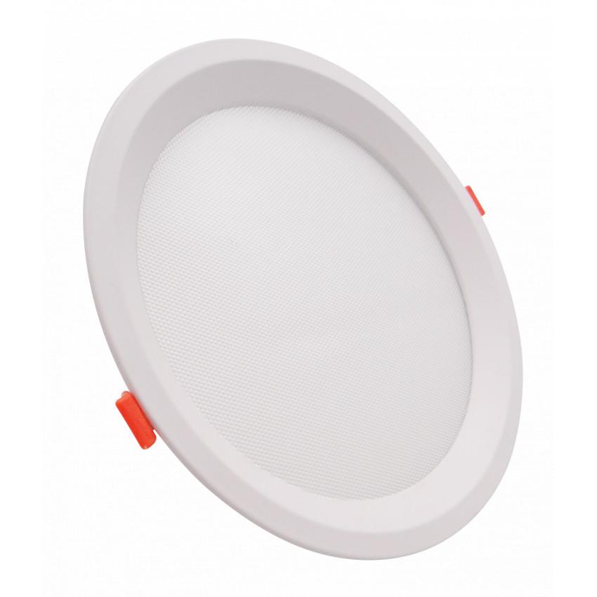 Placa LED 20W CCT Seleccionable Circular Slim LIFUD (UGR17) Corte Ø 205 mm