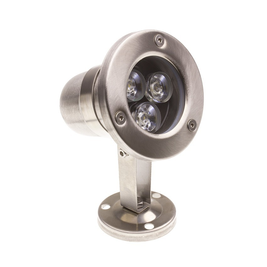 Foco LED de Superficie Inox 12V 3W Sumergible IP68