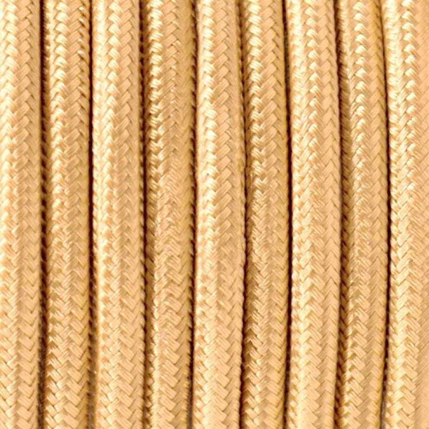 Cable Textil Trenzado Dorado 1m efectoLED
