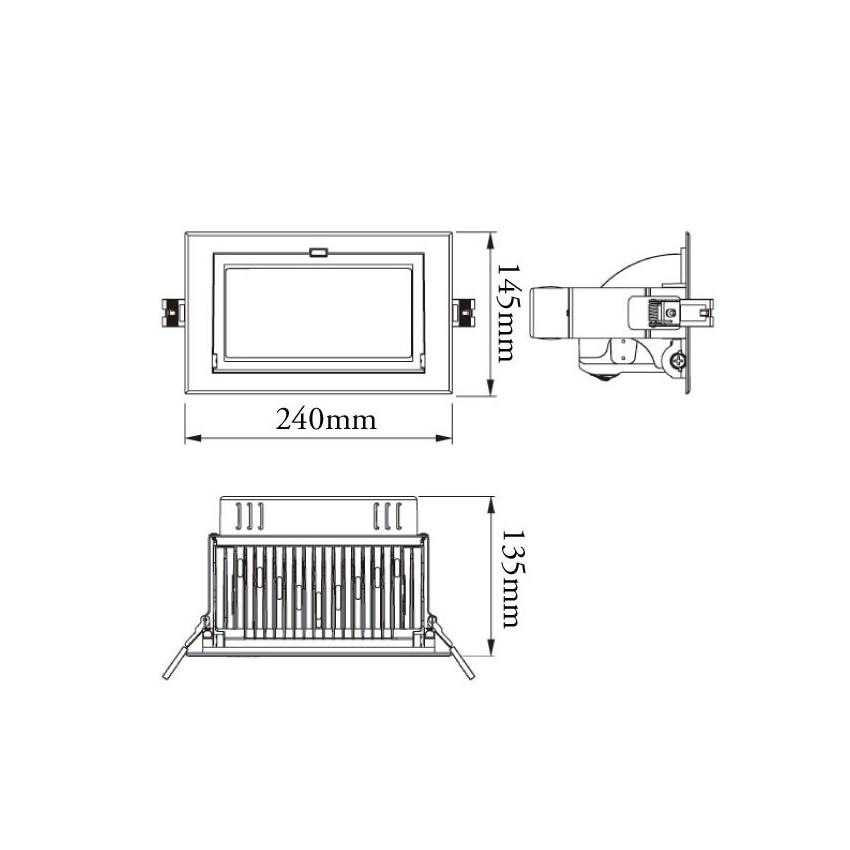 Foco Projector Direccionavel Retangular LED Samsung 28W
