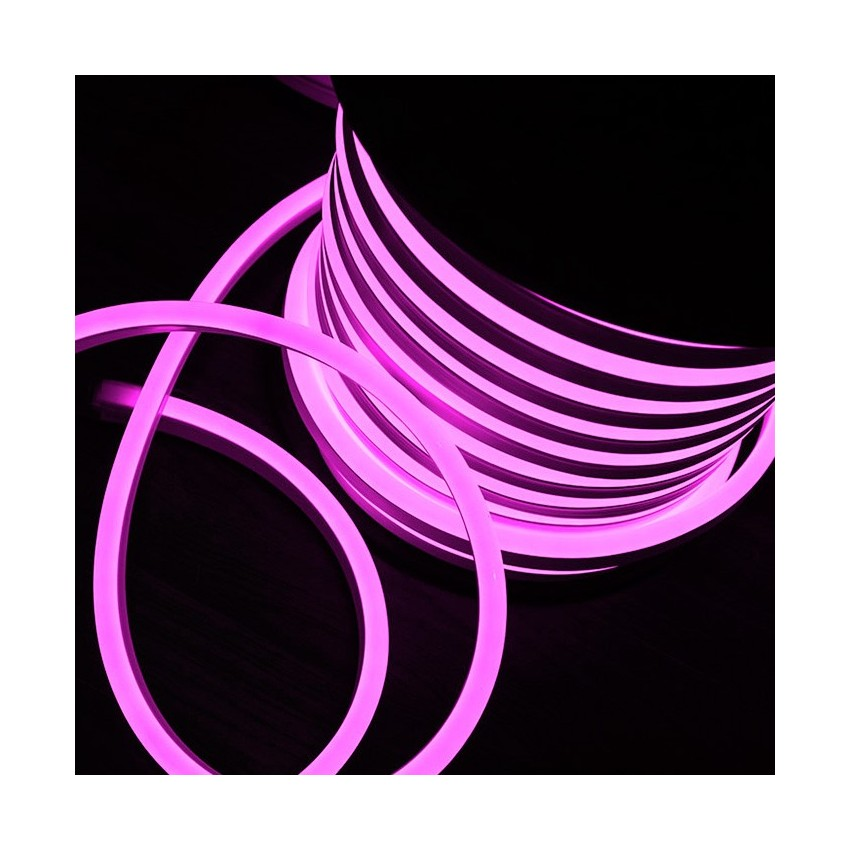 Rolo Neon LED Flexivel 120LED/m Rosa 50 Metros