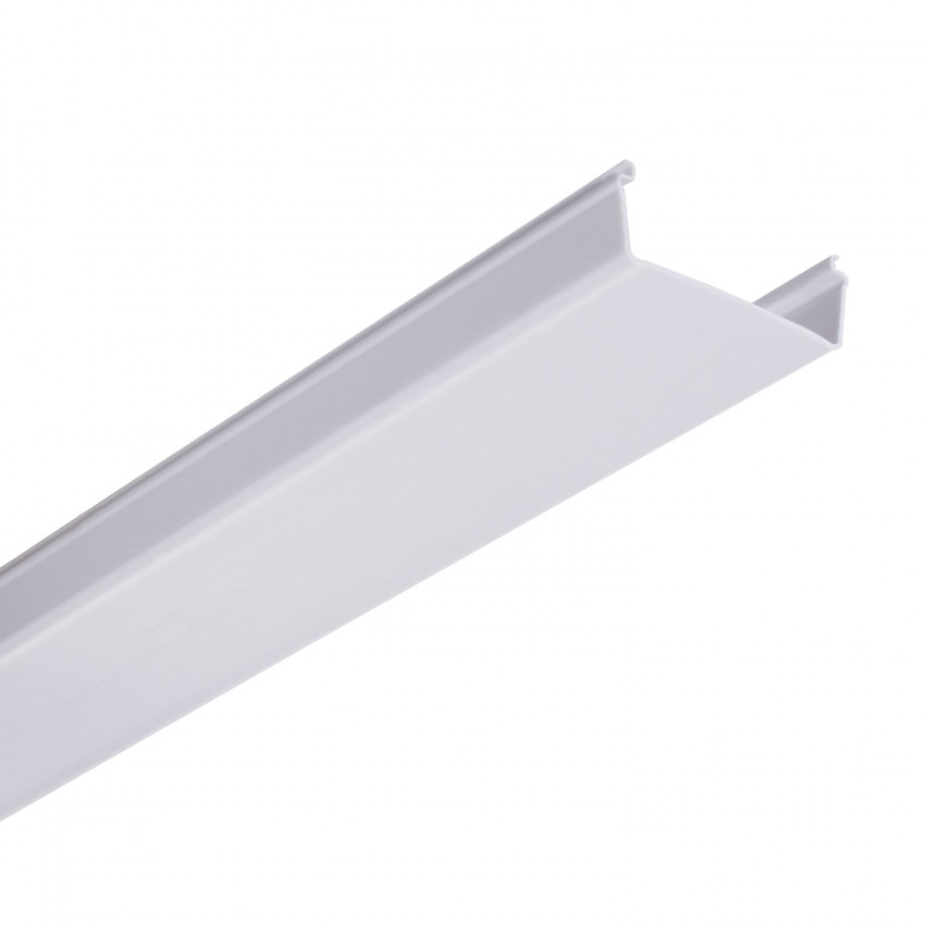 Difusor Branco para Carril de Barra Lineal LED Trunking 600mm