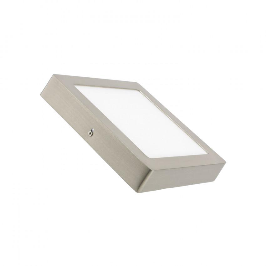 Plafón LED 18W Cuadrado Silver